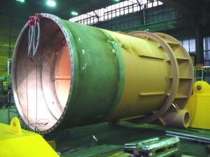 Pfahlführung / Pile sleeve - in production