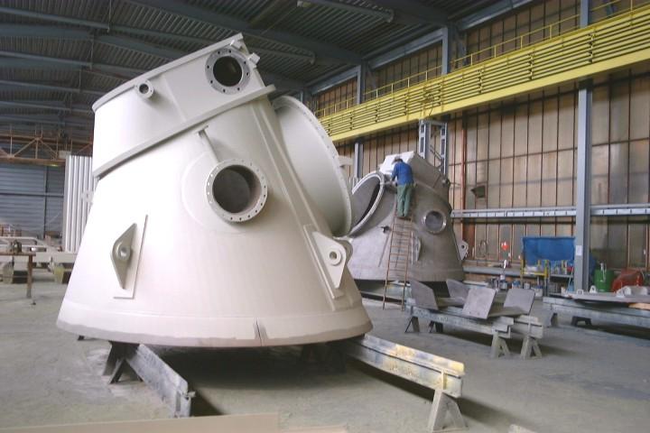Materialbunker Oberteil / Upper part of material hopper
