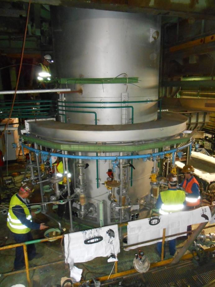 Montage Cupferschmelzofen / Installation cupper melting furnace