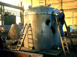 Dekantiergefäß - Fertigung / Industrial decanter - production