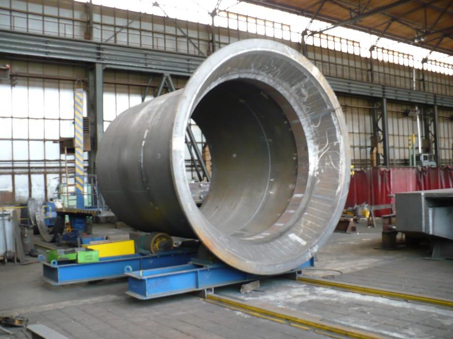 Pfahlführung - Fertigung / Pile sleeve - in production