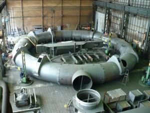 Heißwindleitung für einen Hochofen / Circular pipeline