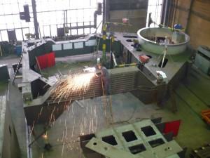 Kipprahmen - Fertigung / Tilting frame - in production