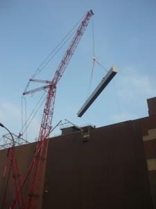 Montage 30m Träger / Installation 30m beam