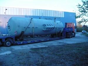 Dampftrommel Fertig für Transport / Steam drum - ready for transport