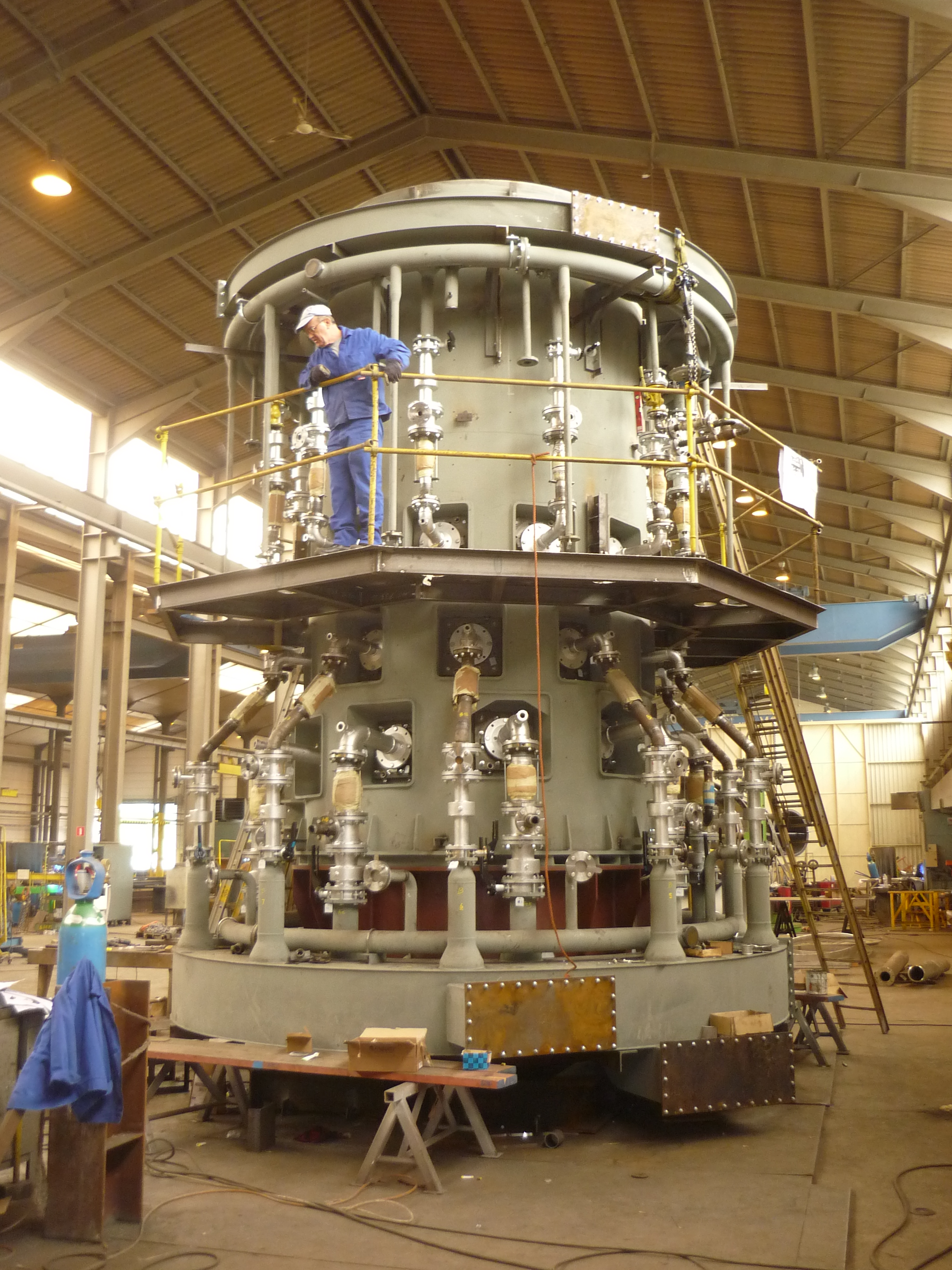 Produktion von Cupferschmelzofen / Production of cupper melting furnace