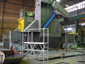 Pfannentransportwagen - Fertigung / Ladle transfer car - in production