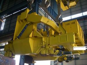 Pfannentransportwagen - Fertig / Ladle transfer car - installation