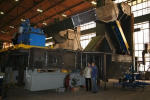 Pfannentransportwagen in Werkstatt / Ladle transfer car in production plant