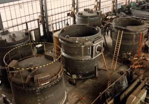 Roheisenpfannen, Inhalt 190 t / 5 molten-iron ladles