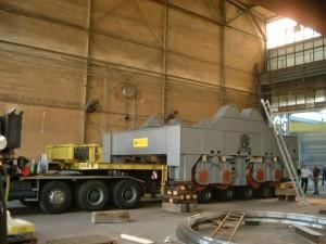 Pfannentransportwagen / Ladle transfer car - ready for transport
