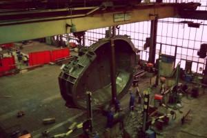 Untergefäß eines Elektroofens mit Erker / Shell of an electric arc furnace
