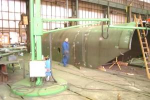 Schrottschurre - Fertigung / Scrap bucket - in production